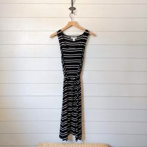 Motherhood Striped Midi Dress